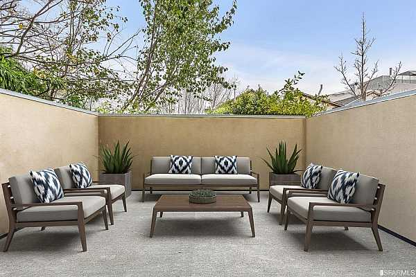 Photo #3 Spacious and private patio ideal for al fresco dining and entertainment     *Property virtually furnished