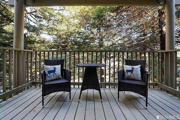 Photo #8 Relax on your Patio Deck amongst the mature trees